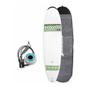 Bic Mini Mal Surfboard Thruster Fin Setup 7ft 6 Package - White