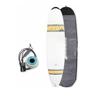 Bic Mini Mal Surfboard Thruster Fin Setup 7ft 9 Package - White