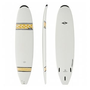 Bic Mini Mal Surfboard Thruster Fin Setup 7ft 9 - White