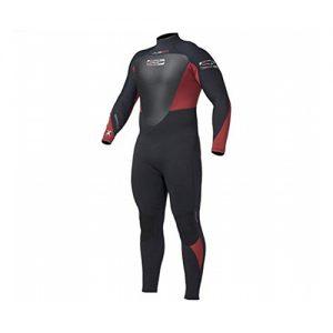 GUL Men's Neptune 5mm Full Wetsuit Red - Front