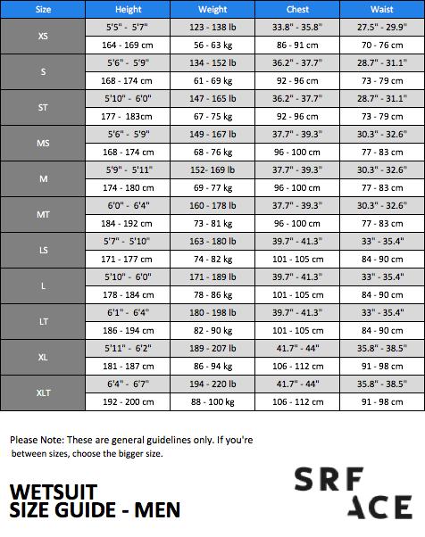 SRFACE-Wetsuit-Size-Chart-Men-thewaveshack.com-min