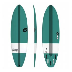 TORQ Funboard Surfboard Bonzer 5 Fin Setup 7ft 6 - Green