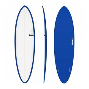TORQ Funboard Surfboard Thruster Fin Setup 6ft 8 - White / Blue