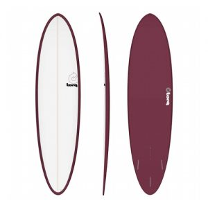 TORQ Funboard Surfboard Thruster Fin Setup 7ft 2 - White / Purple