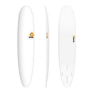 TORQ Longboard Surfboard Thruster Fin Setup 9ft 6 - White