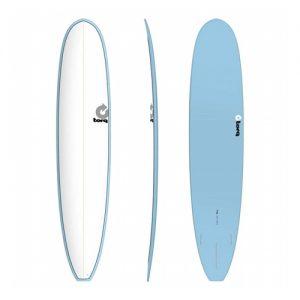 TORQ Longboard Surfboard Thruster Fin Setup 9ft 6 - White / Blue