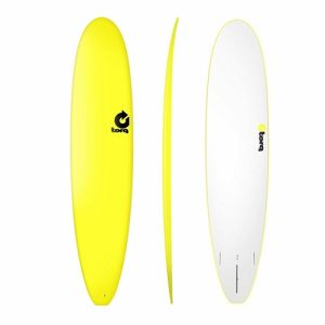 TORQ Longboard Surfboard Thruster Fin Setup 9ft - Yellow
