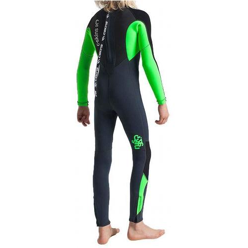 C-Skins Kid's Element 3:2mm Back Zip Full Wetsuit - Back