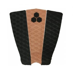 Channel Islands 3-Piece Soli Bailey Surfboard Tail Traction Pad - Black / Brown