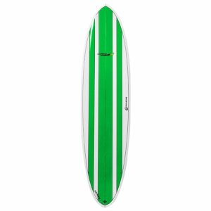 Circle One Funboard Surfboard Thruster Fin Setup 7ft 6 - Green