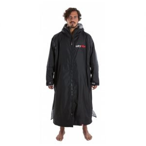 Dryrobe Adults Advance Changing Robe Poncho - Black