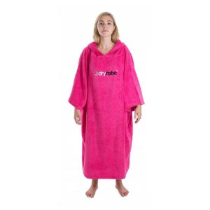 Dryrobe Adults Changing Robe Poncho - Pink