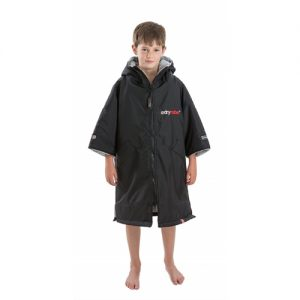 Dryrobe Advance Kid's Changing Robe Poncho - Black