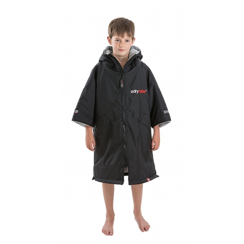 Dryrobe Advance Kid's Changing Robe Poncho - Black