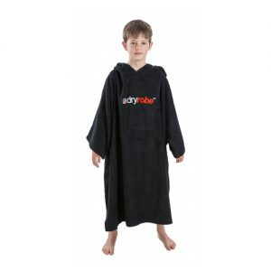 Dryrobe Kid's Changing Robe Poncho - Black