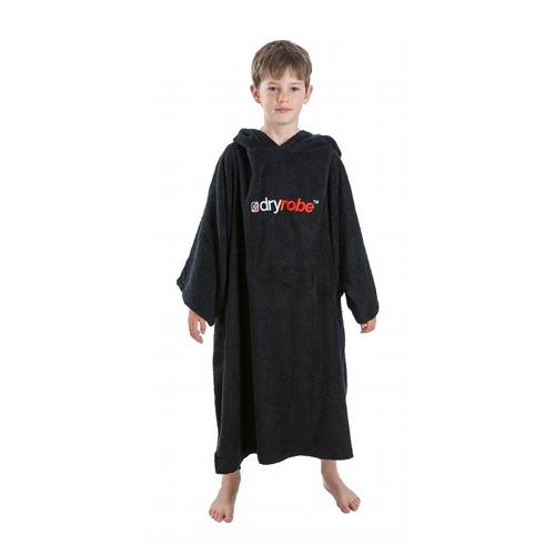Dryrobe Kid's Changing Robe Poncho - Black