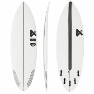 Fourth Surfboards Shortboard Bonzer 5 Fin Setup 6ft - White