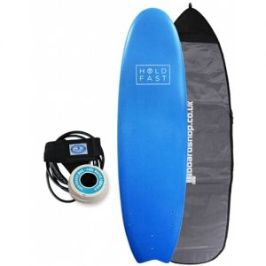 Hold Fast Beginner Surfboard Thruster Fin Setup 6ft 4 Package - Blue