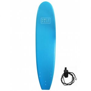 Hold Fast Beginner Surfboard Thruster Fin Setup 8ft - Blue