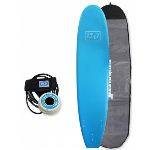 Hold Fast Beginner Surfboard Thruster Fin Setup 8ft Package - Blue