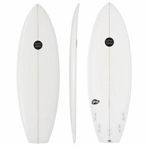 Maluku Shortboard Bonzer 5 Fin Setup 5ft 9 - White