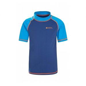 Mountain Warehouse Kid's Short Sleeve Rash Vest - Blue