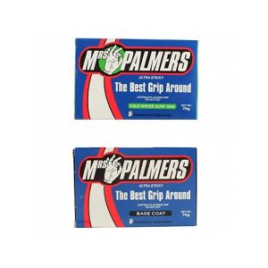 Mrs Palmers Surfboard Wax Twin Pack - Base Coat / Cold Water Top Coat