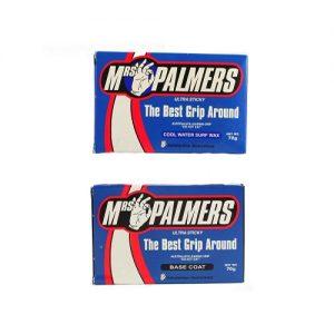 Mrs Palmers Surfboard Wax Twin Pack - Base Coat / Cool Water Top Coat