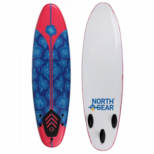 North Gear Beginner Surfboard Thruster Fin Setup 6ft - Floral