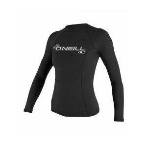 O'Neill Women's Long Sleeve Rash Vest - Black