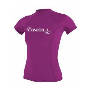 O'Neill Women's Short Sleeve Rash Vest - Pink