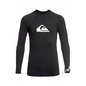 Quiksilver Kid's Long Sleeve Rash Vest - Black