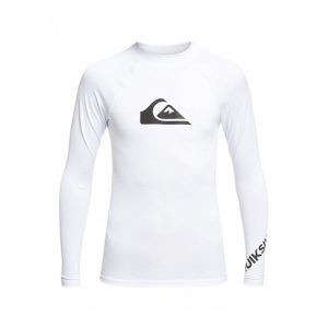 Quiksilver Kid's Long Sleeve Rash Vest - White