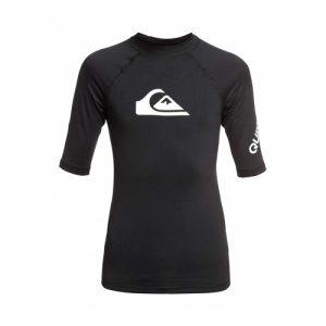 Quiksilver Kid's Short Sleeve Rash Vest - Black