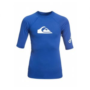 Quiksilver Kid's Short Sleeve Rash Vest - Blue