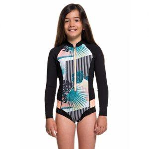Roxy Girl's POP Surf 1mm Front Zip Long Sleeve Spring Wetsuit