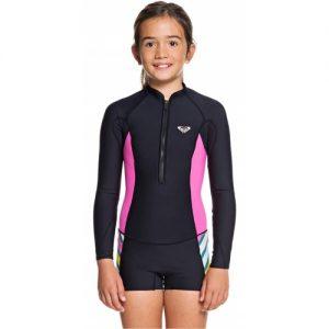 Roxy Girl's POP Surf 2mm Front Zip Long Sleeve Spring Wetsuit