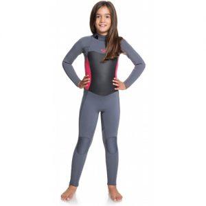 Roxy Girl's Syncro 4:3mm Back Zip Full Wetsuit