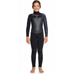 Roxy Girl's Syncro Plus 4:3mm Chest Zip Full Wetsuit