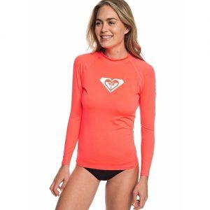 Roxy Women's Long Sleeve Rash Vest - Peach