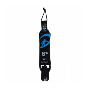 Surf Academy 6ft 6 Surfboard Leash 7mm - Black
