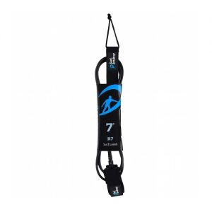 Surf Academy 7ft Surfboard Leash 7mm - Black
