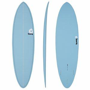 TORQ Funboard Surfboard Thruster Fin Setup 6ft 8 - Blue