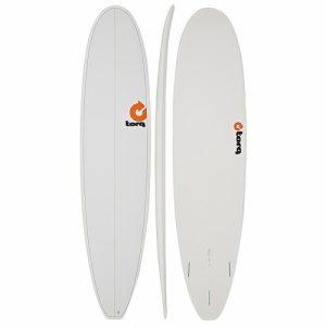 TORQ Longboard Thruster Fin Setup 8ft - Pinline White