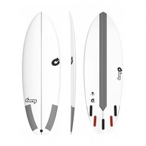 TORQ Shortboard Surfboard Bonzer 5 Fin Setup 6ft 2 - White