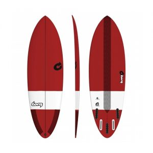 TORQ Shortboard Surfboard Bonzer 5 Fin Setup 6ft 8 - Red