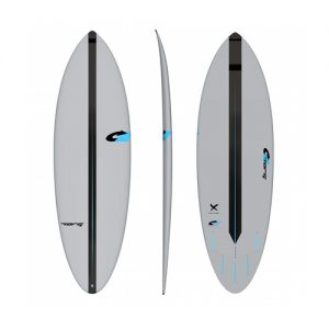TORQ Shortboard Surfboard Bonzer 5 Fin Setup 6ft - Grey