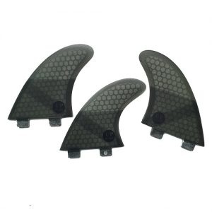 UPSURF Honeycomb Thruster FCS Compatible Surfboard Fins - Black