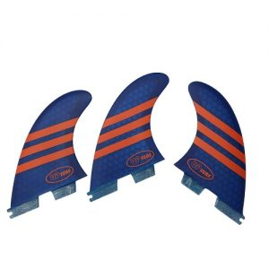 UPSURF Honeycomb Thruster FCS II Compatible Surfboard Fins - Blue / Orange