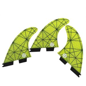 UPSURF Honeycomb Thruster FCS II Compatible Surfboard Fins - Yellow